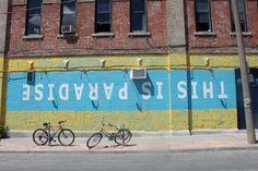 Upside down Street Art #Toronto (by unknown)
