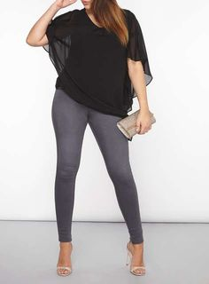 Plus Size Overlay Top - Plus Size Clothing