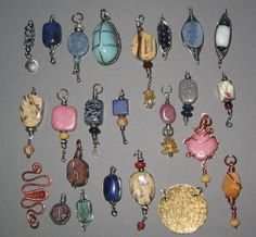 Wire wrapped stone pendants | Flickr - Photo Sharing!