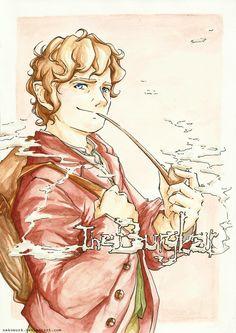 Bilbo Baggins by NekoWork on deviantART I adore detailed fanart. :) So beautiful and breath taking!