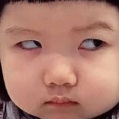 Funny Profile Pictures, Funny Reaction Pictures, Cute Baby Girl Pictures, Cute Couple Pictures, Korean Babies, Asian Babies, Cute Little Baby, Little Babies, Funny Babies