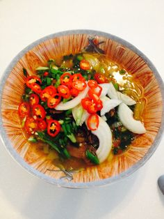 Beef vegetable vermicelli soup