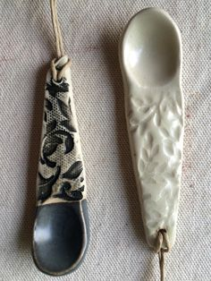 Ceramic Hand Built Monochrome Spice Spoons Set by persimmonstreet