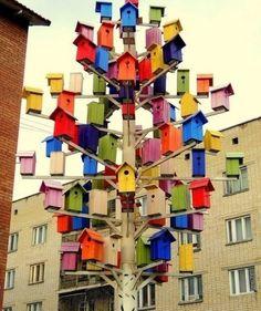 wow..... veel vogelhuisjes