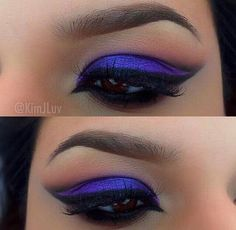 Purple, winged eye