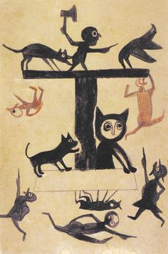 That he was born a slave in the last century, self-taught, and began drawing with the crudest of tools in his eighties, makes the approximately 1800 drawings Bill Traylor produced over a period of about three years all the more remarkable.  In RV 15. http://rawvision.com/articles/bill-traylor