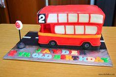 Red London Bus cake.