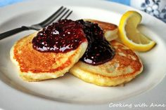 {Lemon Ricotta Pancakes | Cooking with Anne} #breakfast #brunch #recipes
