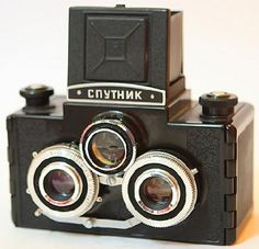 1955 Russian Sputnik Stereo camera Stereo version of the TLR bought in a dusty antique shop in Estonia.