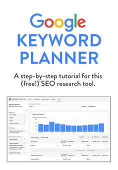 A step-by-step tutorial for how to use the (free!) Google Keyword Planner to help with SEO research.