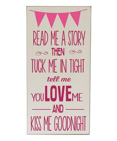 Love this Cream & Pink 'Read Me a Story' Wall Art by Vinyl Crafts on #zulily! #zulilyfinds