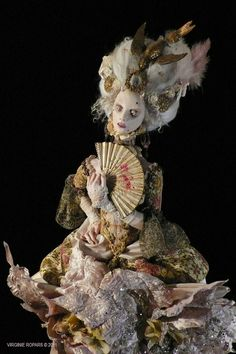 Baroque In Babylon: Marie Antoinette OOAK and Polymer Clay Handmade Doll- GORGEOUS by Virginie Ropars