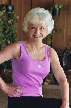 75-year-old Sheila Cluff, owner/founder of heavenly wellness & spa retreat The Oaks at Ojai.