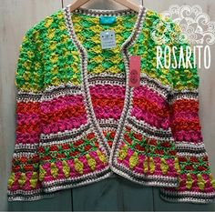 Crochet Jacket, Crochet Cardigan, Crochet Shawl, Crochet Stitches, Love Crochet, Crochet For Kids, Knit Crochet, Loom Knitting, Knitting Patterns