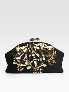 Marni Embellished Cashmere Clutch