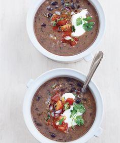 Soup - black bean soup.