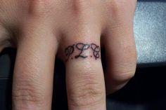 Beautiful Ring Finger Tattoo