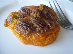 Sweet Potato Puree with Pecan Praline Topping