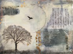 Encaustic landscape Ivy Newport's class Whimsical Portraits and a Dreamy Landscapes 1/16