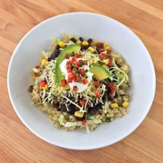 Quinoa Black Bean Burrito Bowls:  An easy vegetarian or vegan meal loaded with protein and flavor.