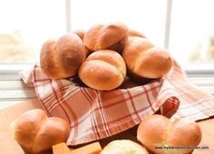 Recipe and tips for making large mouthwatering homemade dinner rolls that have a lovely puffy loft and a fine tender crumb with a soft golden-brown crust. Bistro Kitchen, Bistro Food, Homemade Dinner Rolls, Dinner Rolls Recipe, Kitchenaid Classic Mixer, Baked Rolls, Muffin Cups, Dry Yeast, Buns