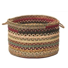 Olivera Utility Basket in Cranberry Blend