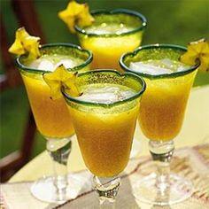 Punch Lorrain Pour 40 personnes : 1 l d'eau de vie de mirabelles (de Lorraine) 4 l de Perrier 1 l de sirop de citron 1 l de Pulco citron