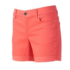 Women's Juicy Couture Flaunt It Cuffed Shorts, Size: 10, Brt Red