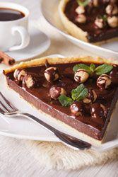 Tarte chocolat noisettes une tarte très gourmandes et très simple à faire