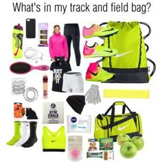 What's in my track and field bag?