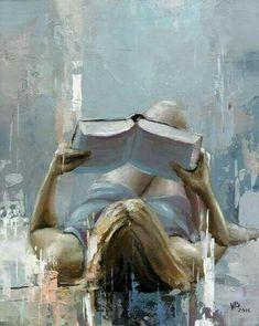 "Daily Paintworks - Original Fine Art © Victor Bauer - Daily Paintworks – ""Reading a Book – 9 "" – Original Fine Art for Sale – © Victor Bauer - L'art Du Portrait, Reading Art, Woman Reading, Reading Books, Contemporary Abstract Art, Art Original, Fine Art Gallery, Figure Painting, Beautiful Paintings"