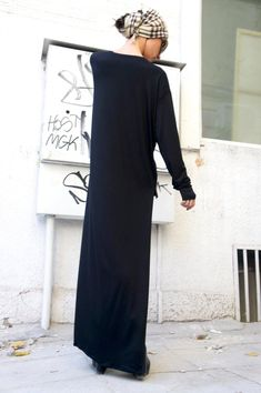Black Asymmetrical Top / Long Blouse Extra Long Sleeves /   Etsy One Shoulder, Shoulder Dress, Asymmetrical Tops, Long Blouse, Etsy, Long Sleeve, Sleeves, Black, Dresses
