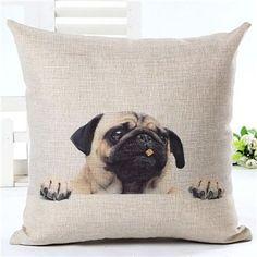 Fashion Animal Cushion Cover Dog For Children Decorative Sofa Throw Pillow Car Chair Home Decor Pillow Case