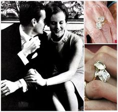 Queen Margrethe of Denmark. This Van Cleef & Arpels ring features two entwined large diamonds - unusual and a bit over the top, just like its wearer Queen Margrethe, and well chosen by her equally interesting husband, Prince Henrik. From: The Royal Order of Sartorial Splendor: Flashback Friday: Scandinavian Engagement Rings.