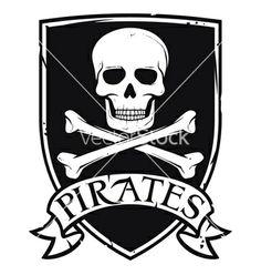 Pirates emblem vector 1024112 - by Tribaliumvs on VectorStock®