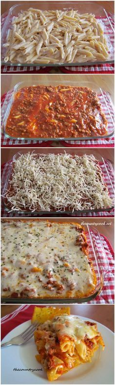 Recipe Best: Easy Baked Ziti very easy to make. Added mushrooms and onions on…