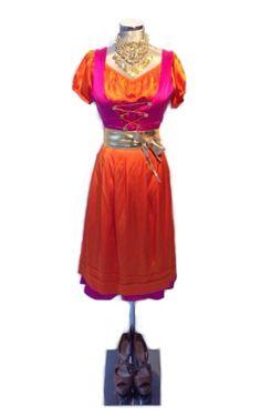Beautiful glamorous traditional bavarian dress