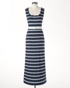 Melrose stripe maxi dress $99.95