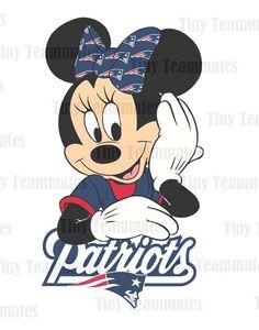 Minnie's Favorite Team New England Patriots by TinyTeammates, $5.00