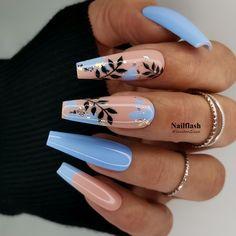 Pretty Nail Art, Beautiful Nail Art, Gorgeous Nails, Acrylic Nails Coffin Short, Cute Acrylic Nails, Nail Ballerina, Yellow Nails Design, How To Cut Nails, Heart Nail Art