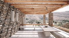 What is it with me falling in love with these summer houses? Again, this one is screaming my name. This Greek island summer house, was designed by Cometa Architects. It was developed for the Mediterranean climate, using local materials a...