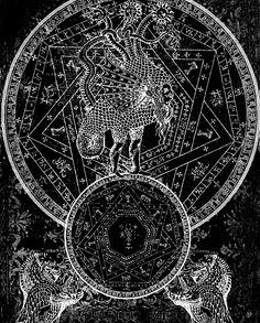 alchemical chimera, septagram seal - inspiration for magic system