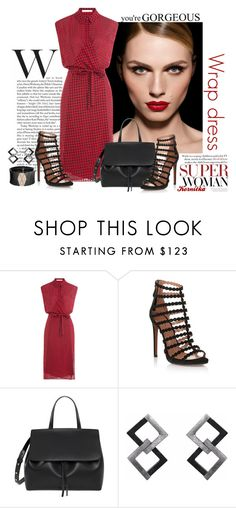 """""""nr 310 / Wrap It Up"""" by kornitka ❤ liked on Polyvore featuring MAKE UP FOR EVER, T By Alexander Wang, Alaïa and Roberto Demeglio"""