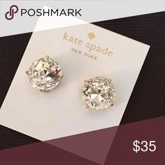 Kate Spade Earrings New Large Kate Spade Earrings   Color: Clear/gold plated   New with tags. Includes dust bag  PRICE IS FIRM   No trades. kate spade Jewelry Earrings