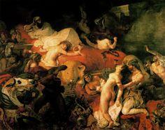 La Muerte de Sardanápalo. Delacroix. Romanticismo. S. XIX.
