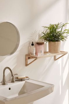 Mira Pressed Glass Shelf - Urban Outfitters