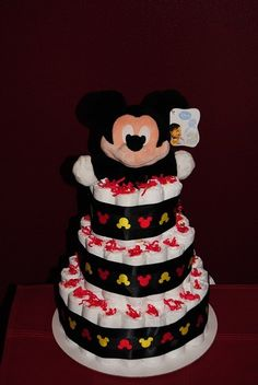 mickey mouse diaper cake | Add it to your favorites to revisit it later.