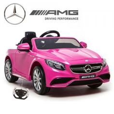 Amazing Kids Ride On Car Battery Power Parent Remote Control RC Mercedes Pink - Mercedes Benz Toy Cars For Kids, Toys For Girls, Kids Toys, Mercedes S63, Kids Ride On, Ride On Toys, Car Shop, Radio Control, Electric Cars