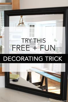 Try This Decorating Trick To Gain A New Perspective On Your Homes Decor.  #HomeDecorIdeas