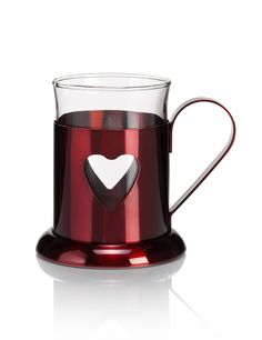 Metallic Heart Mug
